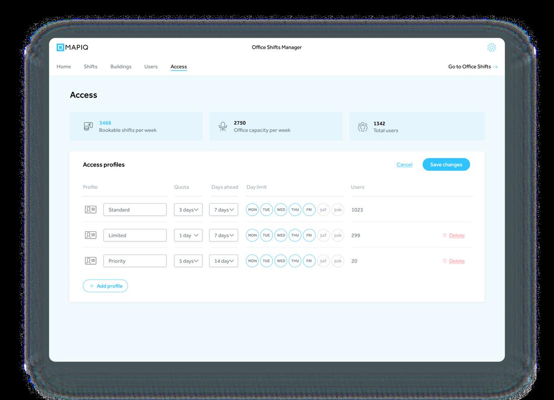 access profiles